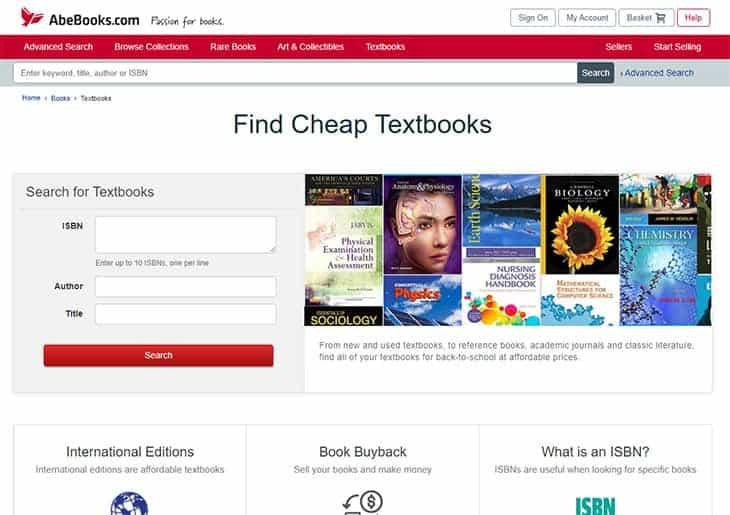 AbeBooks cheap college textbooks
