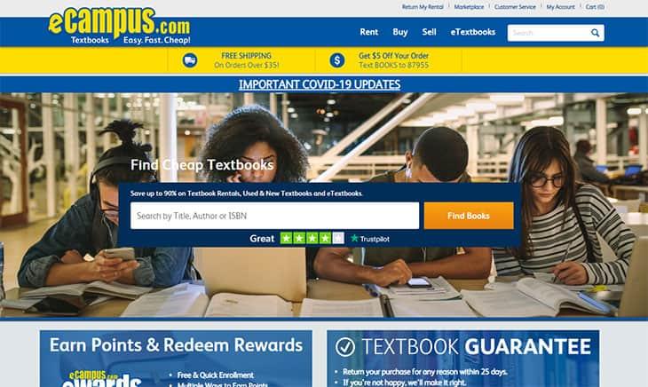 ecampus university book rentals