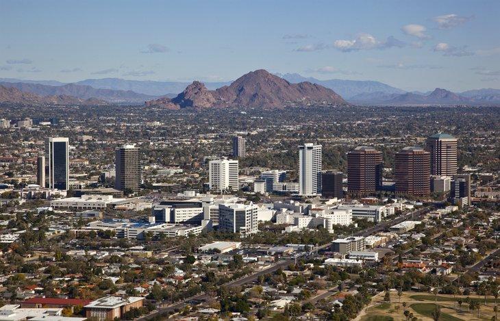 Aerial view of Scottsdale Arizona