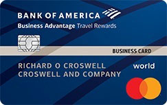 Bank Of America Business Advantage Travel Rewards World Mastercard Credit Card