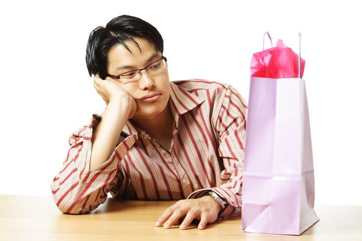 Unhappy shopper