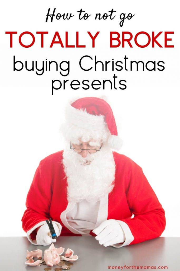 how to not go totally broke buying christmas presents
