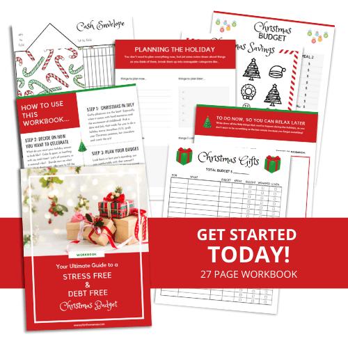 Christmas Budget Workbook mock up