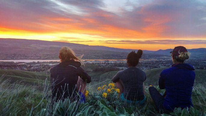 A sunrise near Wenatchee, WA
