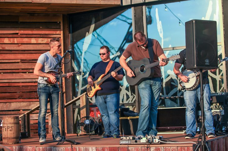Country musicians perform in Pigeon Forge, Tennessee