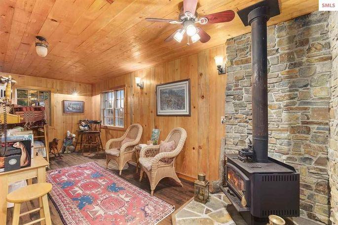Miner's cabin interior