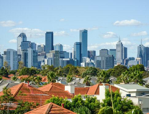 city skyline of Melbourne, Australia