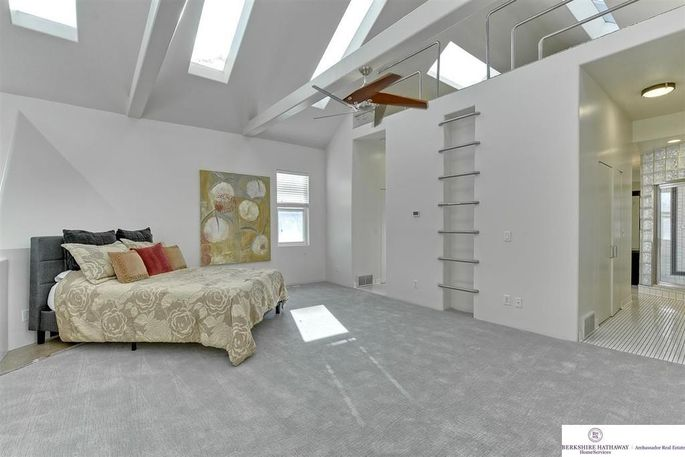 Master bedroom and loft area