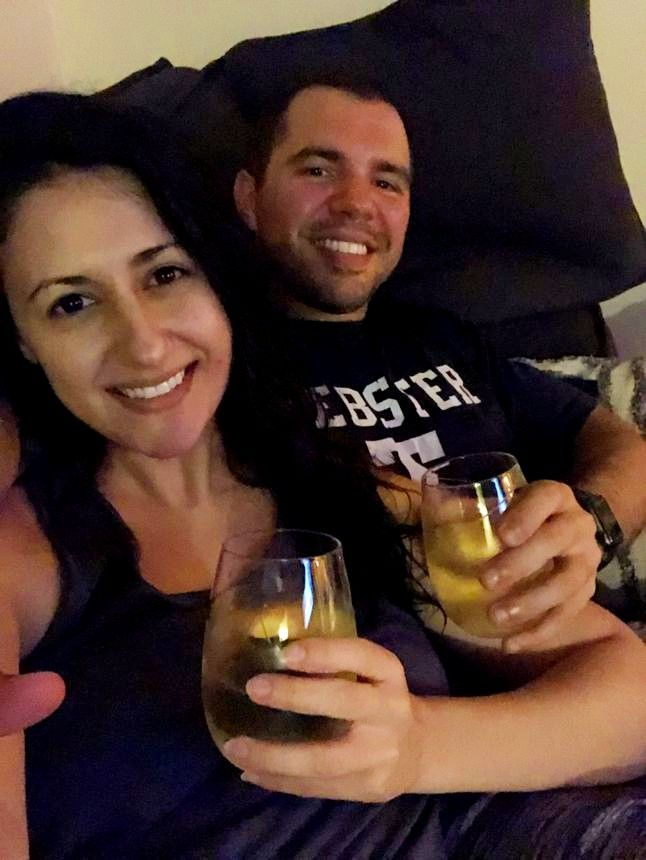 After LaVallee came home, the two finally got to toast their first home with a bottle of wine, courtesy of their real estate agent.