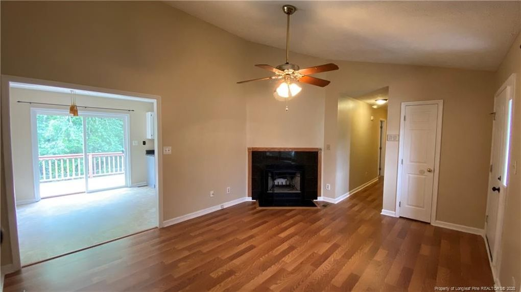 The large living room in Johnson and LaVallee's new house
